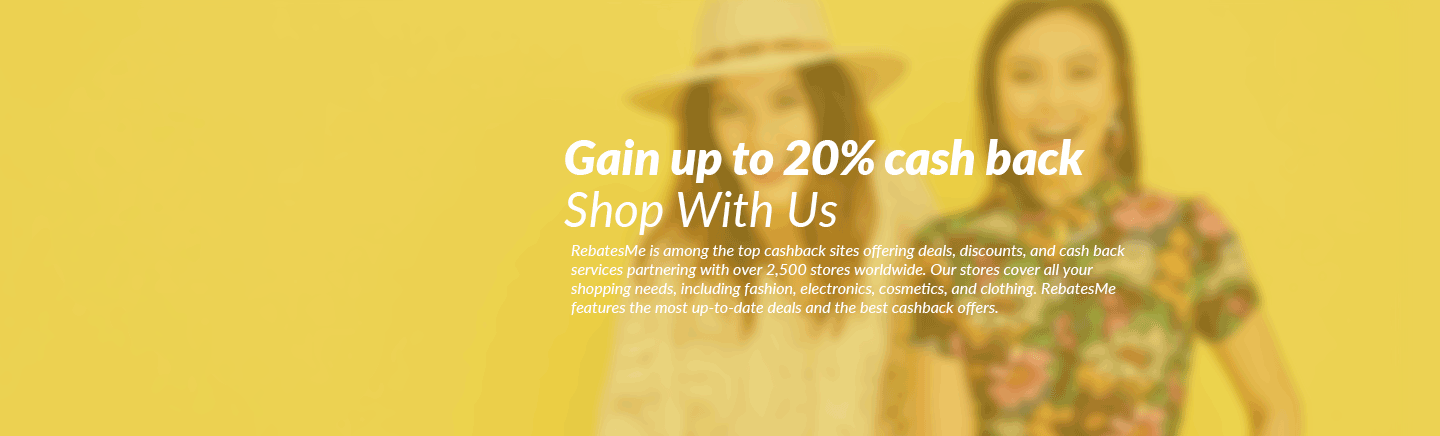 Get up to 20% cash back  at over 2000 stores!