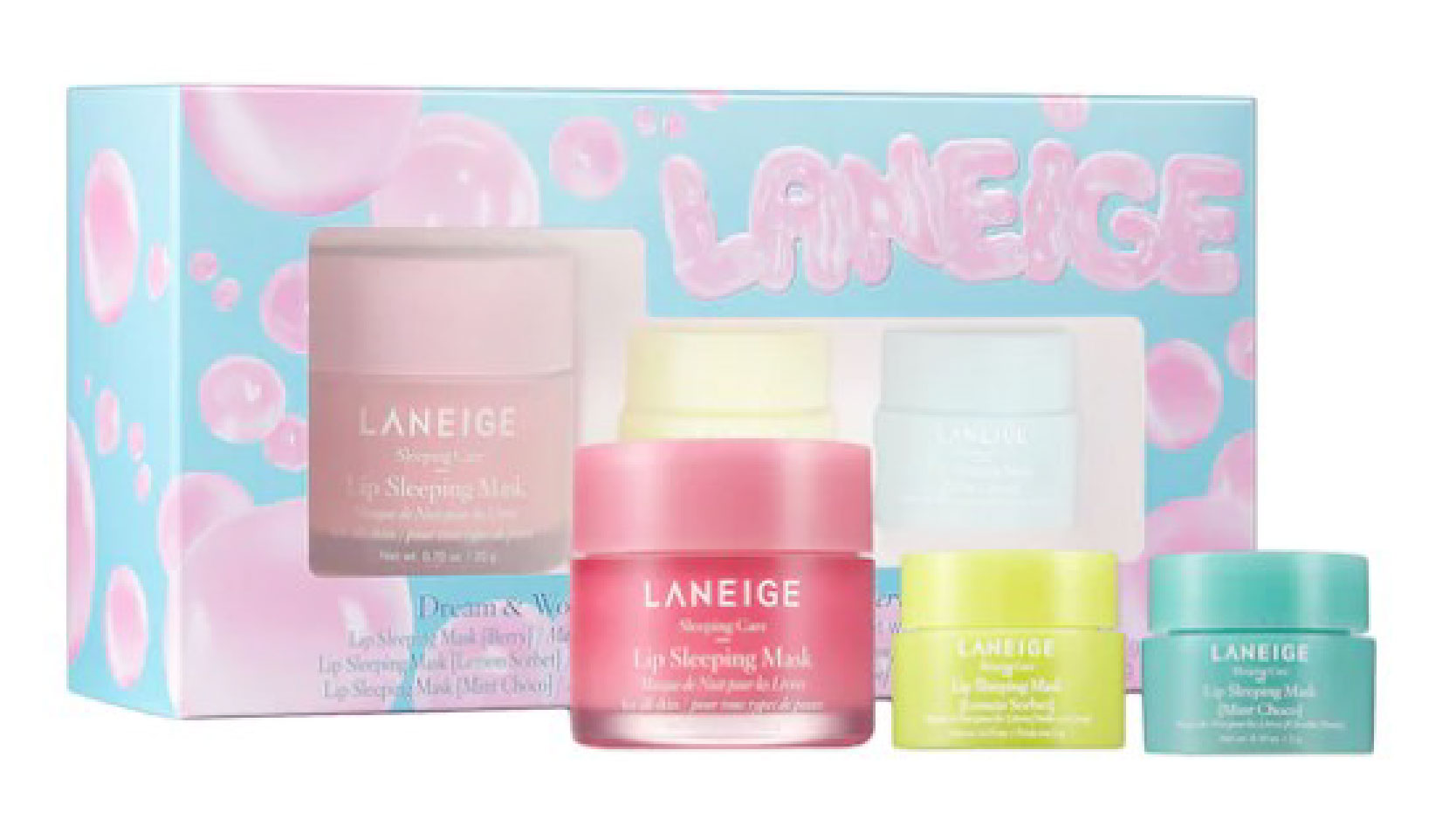 Laneige dream and wonder skincare gift set