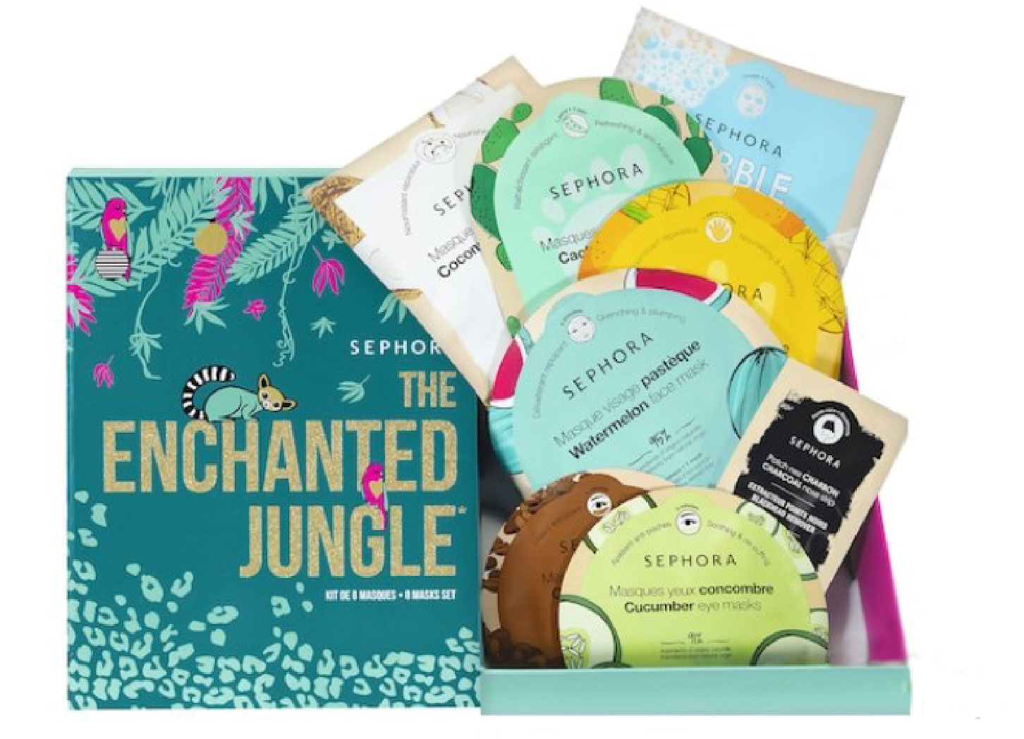 Sephora Enchanted Jungle skincare mask box set